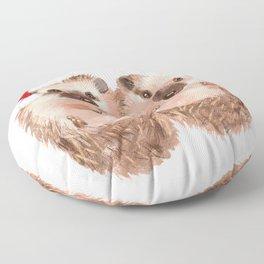 Christmas Twin Hedgehog Floor Pillow