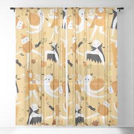 Fall Fresno Nightcrawlers Pattern Sheer Curtain
