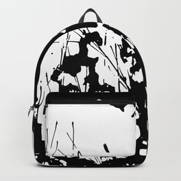 Abstract Black and White Rorschach Backpack