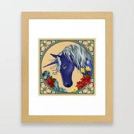 December Unicorn Framed Art Print