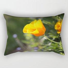 Sunlit Eschscholzia californica Rectangular Pillow