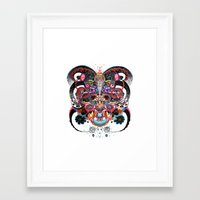 bones Framed Art Prints featuring Bones by Nicole Linde