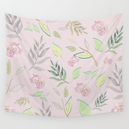 Simple and stylized flowers 4 Wall Tapestry