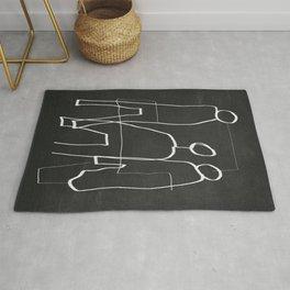 Abstract line art 7/2 Rug
