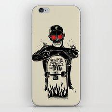 SKATE OR DIE iPhone Skin