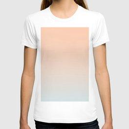 WEST COAST - Minimal Plain Soft Mood Color Blend Prints T-shirt