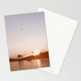 Sunset on the Channel Stationery Cards