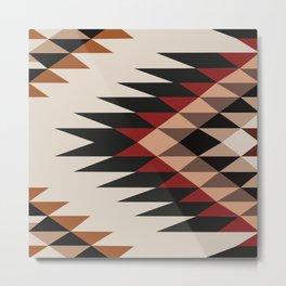 American Native Pattern No. 254 Metal Print