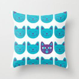 Cat Tongue Throw Pillow