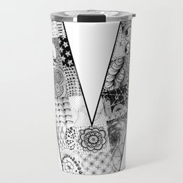 Cutout Letter V Travel Mug