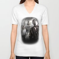 zombies V-neck T-shirts featuring Zombies by Joe Roberts