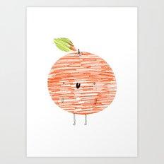 Eat Your Fruit! // Orange Art Print