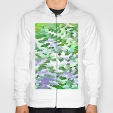 Foliage Abstract In Green and Mauve Hoody