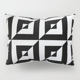 Original Geometric Op Art Design Pillow Sham