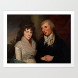 Mr. and Mrs. Alexander Robinson, Charles Willson Peale, 1741 - 1827 Art Print