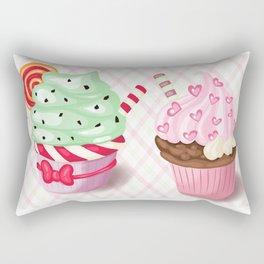 Pretty Cupcake Parade Rectangular Pillow