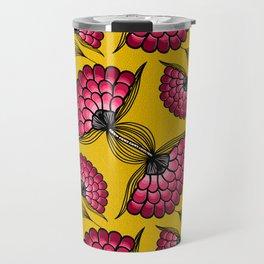 African Floral Motif Travel Mug