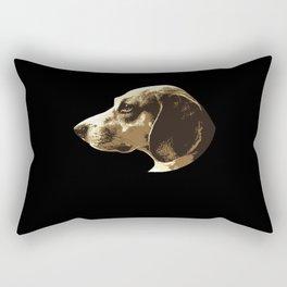 Beagle Dog Lover Dog Breed Motif Rectangular Pillow