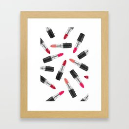 Curvy hips and red lips Framed Art Print