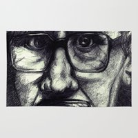 tinker bell Area & Throw Rugs featuring Tinker Tailor Gary Oldman by Phie Hackett