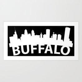 Curved Skyline Of Buffalo NY Art Print