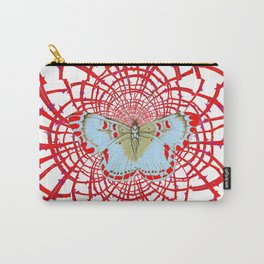 ARTISTIC RED-WHITE BUTTERFLY DREAM CATCHER WEB Carry-All Pouch