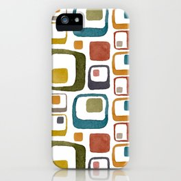 Retro Mod Squares - Mrs. Hand's Rad Pad Collection iPhone Case