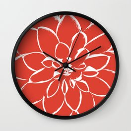 Dahlia Fiesta Wall Clock