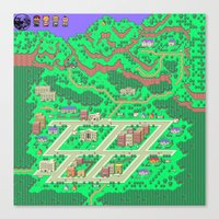 earthbound Canvas Prints featuring Earthbound by Fred Vilair