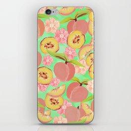 Peaches on Green iPhone Skin