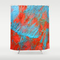 coral Shower Curtains featuring Coral  by haroulita