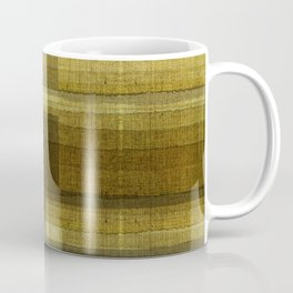 """Burlap Texture Greenery Shades"" Coffee Mug"