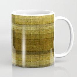 """Burlap Texture Greenery Shades"" Coffee Mug"