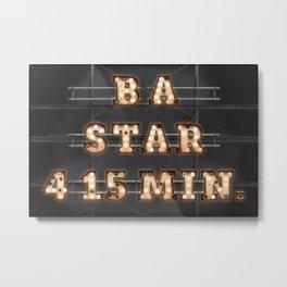 B A Star 4 15 Min. - Bulb Metal Print