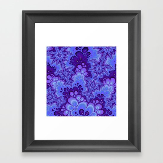 Purple Fractal art Framed Art Print