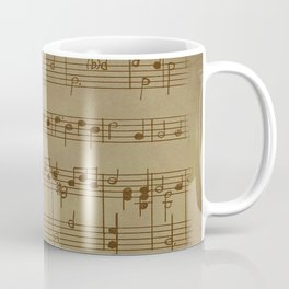 Steam punk | Vinatage music | Vintage notes | music Decor | Music Design Coffee Mug