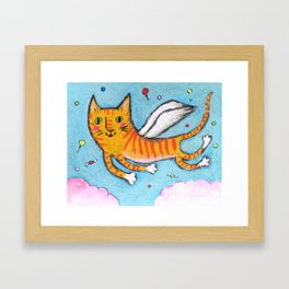 Candy cat Framed Art Print