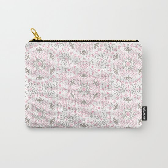 Mandala_Rose-Warm Gray Carry-All Pouch