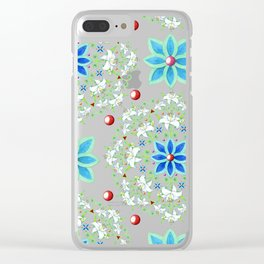 Folkloric Lily Medallion Clear iPhone Case