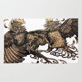 Two Kings - Roosters Rug