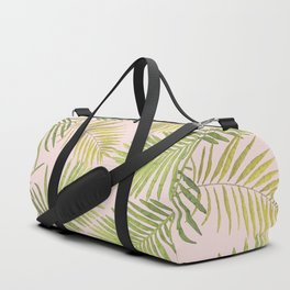 Palms Against Blush Duffle Bag