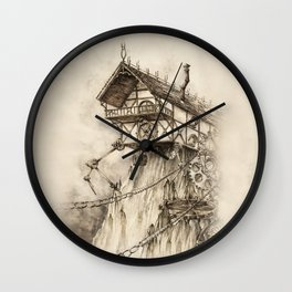 Steampunk House Wall Clock