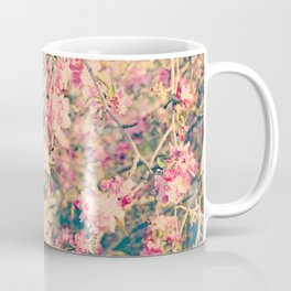 Vintage Pink Crabapple Tree Blossoms in the Sun Coffee Mug