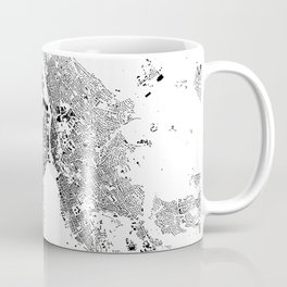 Zurich Schwarzplan Map Only Buildings Coffee Mug