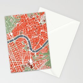 Rome city map classic Stationery Cards