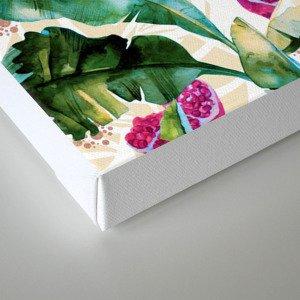Banana leaf & Pomegranate II Canvas Print