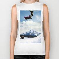 ski Biker Tanks featuring ski Mountain by Colton