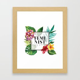 Feminist As F**k Framed Art Print