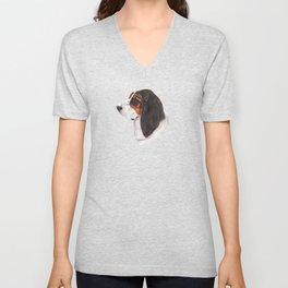 Basset hound - color Unisex V-Neck