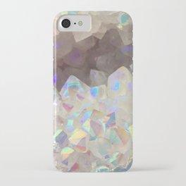 Iridescent Aura Crystals iPhone Case
